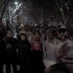 눈밭의 기도회...희망발걸음은 두번째걸음을 마칩니다. by  고동민